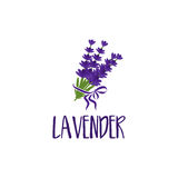 Template logo design of abstract icon lavender. Vector illustration stock illustration