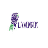 Template logo design of abstract icon lavender. Royalty Free Stock Photos