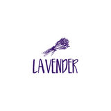 Template logo design of abstract icon lavender. Vector illustration Stock Photography