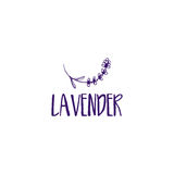 Template logo design of abstract icon lavender. Vector illustration royalty free illustration