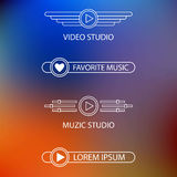 Template of a logo of a music and video of studio Stock Photos