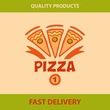 Template  logo pizza, pizzeria. Royalty Free Stock Photography