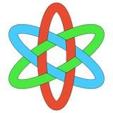 Template logo RGB interlocking ovals weave ellipses. Template logo RGB interlocking ovals, vector weave of ellipses Stock Photos
