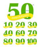 Template Logo 30th Anniversary Vector Illustration. EPS10 Royalty Free Stock Image