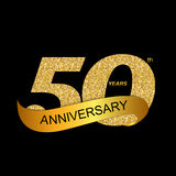Template Logo 50th Anniversary Vector Illustration EPS10 Stock Photography