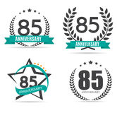 Template Logo 85 Years Anniversary Set Vector Illustration. EPS10 Royalty Free Stock Photo