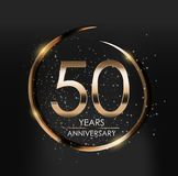 Template Logo 50 Years Anniversary Vector Illustration. EPS10 Royalty Free Stock Images