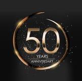 Template Logo 50 Years Anniversary Vector Illustration. EPS10 Stock Illustration