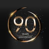 Template Logo 90 Years Anniversary Vector Illustration. EPS10 Royalty Free Stock Images