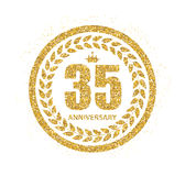 Template Logo 35 Years Anniversary Vector Illustration Royalty Free Stock Image