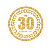 Template Logo 30 Years Anniversary Vector Illustration Royalty Free Stock Photos