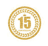 Template Logo 15 Years Anniversary Vector Illustration. EPS10 Royalty Free Stock Photo