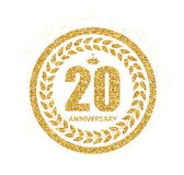 Template Logo 20 Years Anniversary Vector Illustration Stock Photos