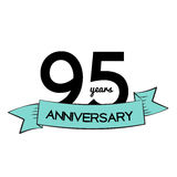 Template Logo 95 Years Anniversary Vector Illustration. EPS10 vector illustration