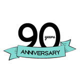 Template Logo 90 Years Anniversary Vector Illustration. EPS10 Vector Illustration