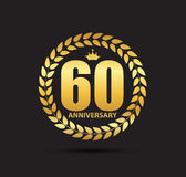 Template Logo 60 Years Anniversary Vector Illustration Stock Images