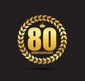 Template Logo 80 Years Anniversary Vector Illustration. EPS10 Stock Photo