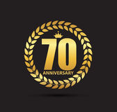 Template Logo 70 Years Anniversary Vector Illustration Stock Photo