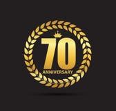 Template Logo 70 Years Anniversary Vector Illustration. EPS10 Stock Photo