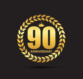 Template Logo 90 Years Anniversary Vector Illustration Stock Photography