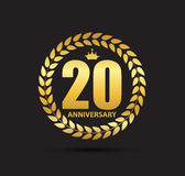 Template Logo 20 Years Anniversary Vector Illustration Royalty Free Stock Photos
