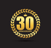 Template Logo 30 Years Anniversary Vector Illustration. EPS10 Stock Images