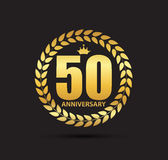 Template Logo 50 Years Anniversary Vector Illustration. EPS10 Royalty Free Stock Photos