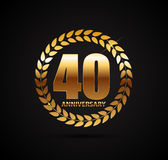 Template Logo 40 Years Anniversary Vector Illustration. EPS10 Stock Image
