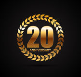 Template Logo 20 Years Anniversary Vector Illustration Royalty Free Stock Images