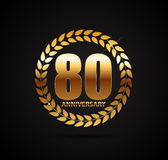 Template Logo 80 Years Anniversary Vector Illustration. EPS10 Royalty Free Stock Photography