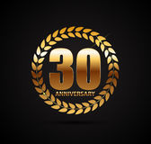 Template Logo 30 Years Anniversary Vector Illustration Royalty Free Stock Photo