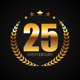 Template Logo 25 Years Anniversary Vector Illustration. EPS10 Royalty Free Stock Photography