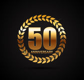 Template Logo 50 Years Anniversary Vector Illustration. EPS10 Royalty Free Stock Photography