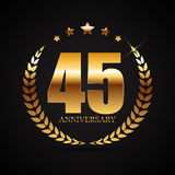 Template Logo 45 Years Anniversary Vector Illustration. EPS10 Royalty Free Stock Image