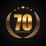 Template Logo 70 Years Anniversary Vector Illustration Royalty Free Stock Photos