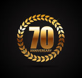 Template Logo 70 Years Anniversary Vector Illustration Stock Image