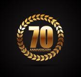 Template Logo 70 Years Anniversary Vector Illustration. EPS10 Stock Image