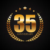 Template Logo 35 Years Anniversary Vector Illustration. EPS10 Stock Images