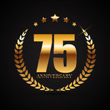 Template Logo 75 Years Anniversary Vector Illustration Royalty Free Stock Photo