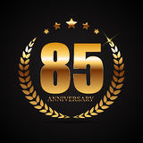 Template Logo 85 Years Anniversary Vector Illustration. EPS10 Stock Photo