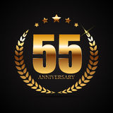 Template Logo 55 Years Anniversary Vector Illustration. EPS10 Stock Photography