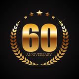 Template Logo 60 Years Anniversary Vector Illustration Stock Photos