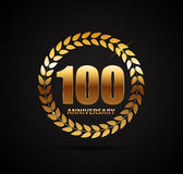 Template Logo 100 Years Anniversary Vector Illustration. EPS10 Stock Images