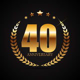 Template Logo 40 Years Anniversary Vector Illustration Stock Photo