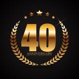 Template Logo 40 Years Anniversary Vector Illustration. EPS10 Stock Photo