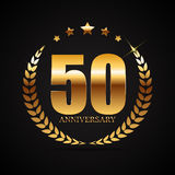 Template Logo 50 Years Anniversary Vector Illustration Stock Photo