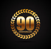 Template Logo 90 Years Anniversary Vector Illustration. EPS10 Royalty Free Stock Photography