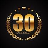Template Logo 30 Years Anniversary Vector Illustration. EPS10 Stock Photo