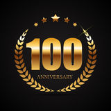 Template Logo 100 Years Anniversary Vector Illustration. EPS10 Royalty Free Stock Image