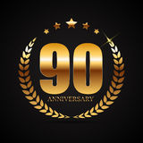 Template Logo 90 Years Anniversary Vector Illustration. EPS10 Royalty Free Illustration
